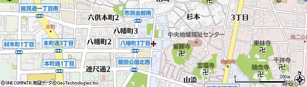 愛知県岡崎市亀井町周辺の地図