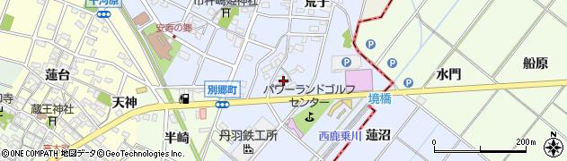 愛知県安城市別郷町(屋敷)周辺の地図