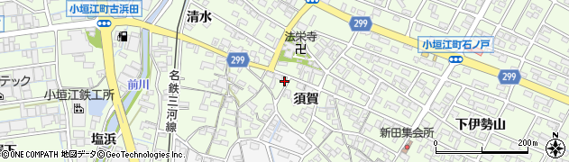 愛知県刈谷市小垣江町(須賀)周辺の地図