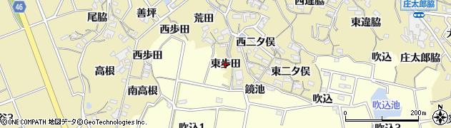 愛知県知多市岡田(東歩田)周辺の地図