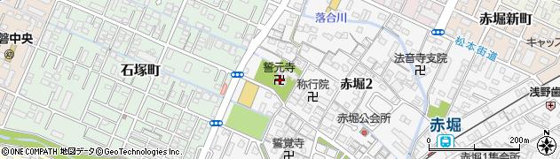 誓元寺周辺の地図