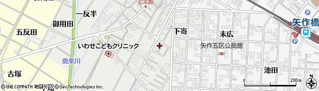愛知県岡崎市北本郷町周辺の地図
