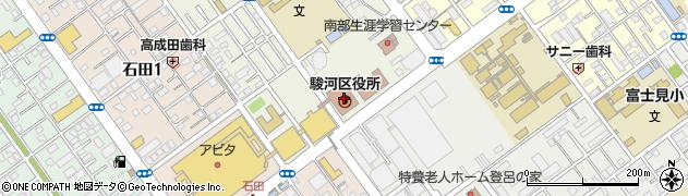 静岡県静岡市駿河区周辺の地図