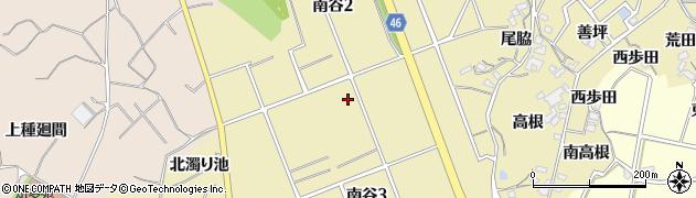 愛知県知多市南谷周辺の地図