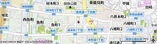 クインビィー周辺の地図