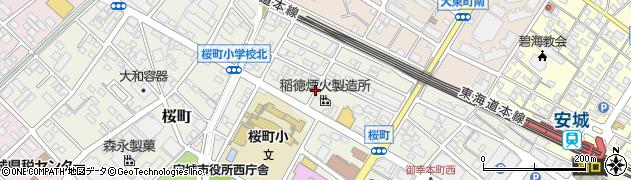 愛知県安城市桜町周辺の地図