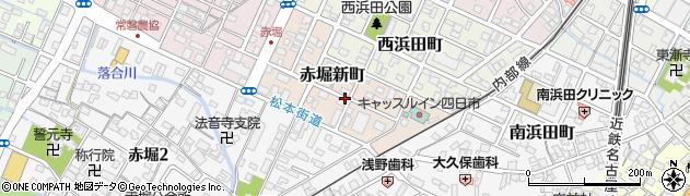 三重県四日市市赤堀新町周辺の地図