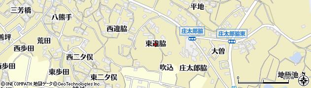 愛知県知多市岡田(東違脇)周辺の地図