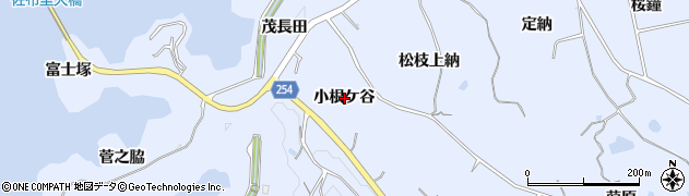愛知県知多市佐布里(小根ケ谷)周辺の地図