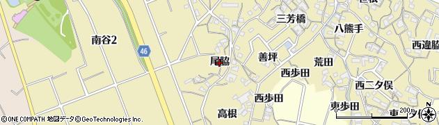 愛知県知多市岡田(尾脇)周辺の地図