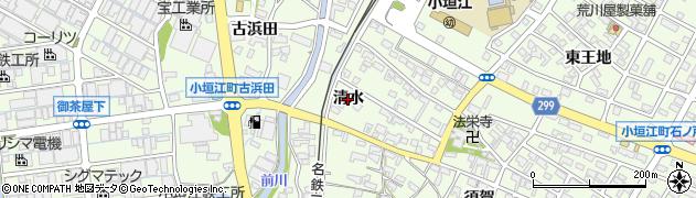 愛知県刈谷市小垣江町(清水)周辺の地図