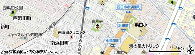 三重県四日市市中浜田町周辺の地図
