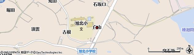 愛知県知多市日長(白山)周辺の地図