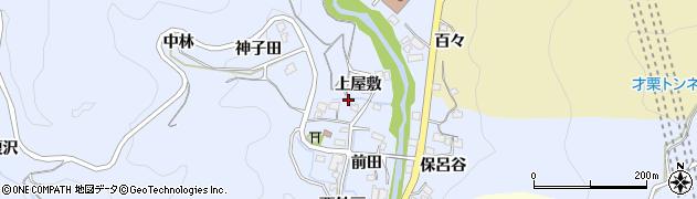 愛知県岡崎市才栗町(上屋敷)周辺の地図