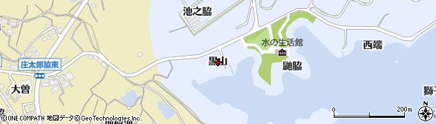 愛知県知多市佐布里(黒山)周辺の地図