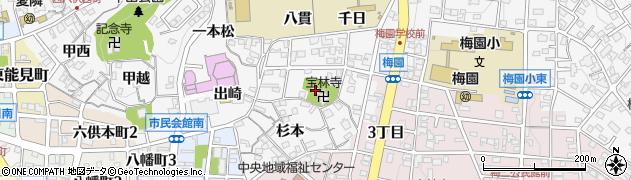 貞松寺周辺の地図