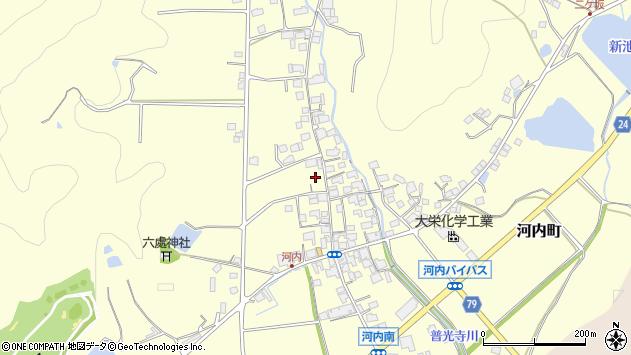 〒675-2421 兵庫県加西市河内町の地図