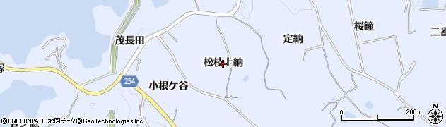愛知県知多市佐布里(松枝上納)周辺の地図