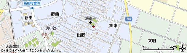 愛知県安城市新田町周辺の地図