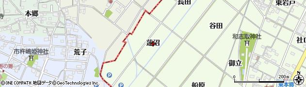 愛知県岡崎市西本郷町(蓮沼)周辺の地図