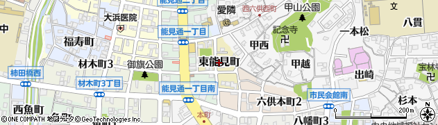 愛知県岡崎市東能見町周辺の地図