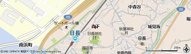 愛知県知多市日長(森下)周辺の地図