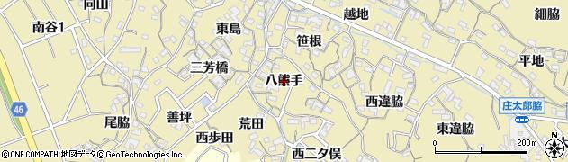 愛知県知多市岡田(八熊手)周辺の地図