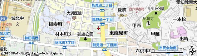 愛知県岡崎市能見通周辺の地図