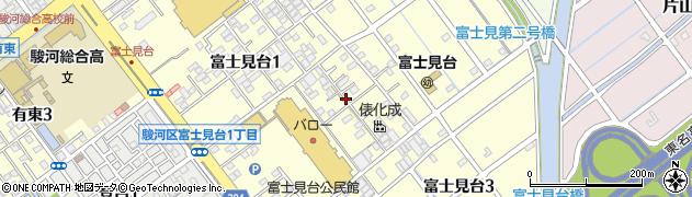 静岡県静岡市駿河区富士見台周辺の地図