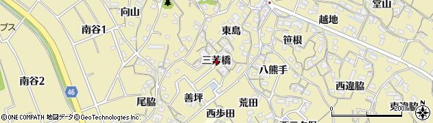 愛知県知多市岡田(三芳橋)周辺の地図