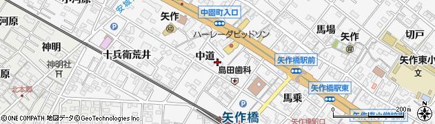 やはぎ川和風料理予約注文受付用周辺の地図