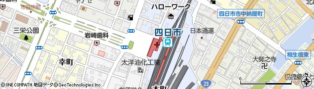 三重県四日市市周辺の地図