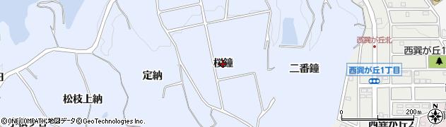 愛知県知多市佐布里(桜鐘)周辺の地図