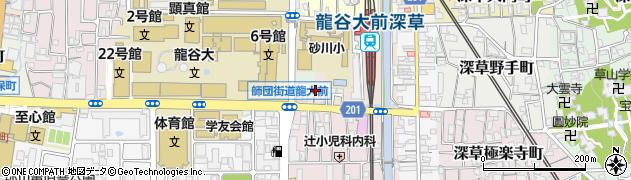 京都府京都市伏見区深草ケナサ町周辺の地図