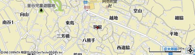 愛知県知多市岡田(笹根)周辺の地図