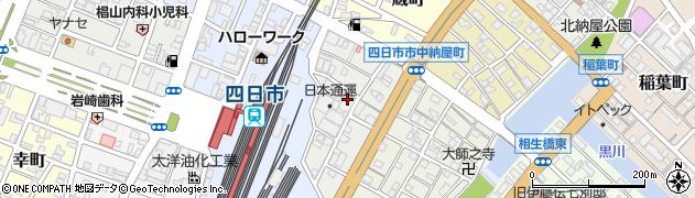 三重県四日市市相生町周辺の地図