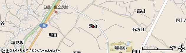 愛知県知多市日長(荒山)周辺の地図