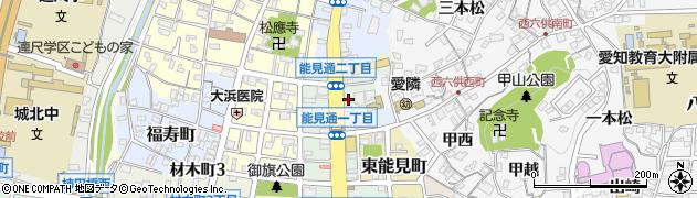 どんどん亭周辺の地図