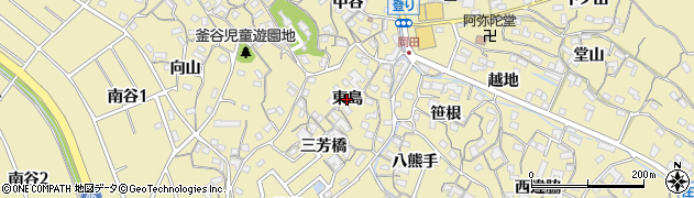 愛知県知多市岡田(東島)周辺の地図