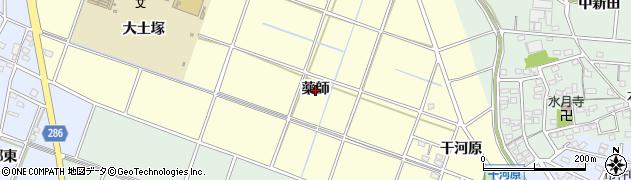 愛知県安城市北山崎町(薬師)周辺の地図