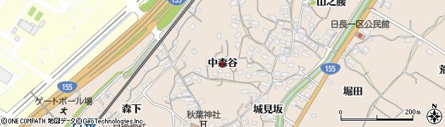愛知県知多市日長(中森谷)周辺の地図