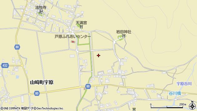 〒671-2535 兵庫県宍粟市山崎町宇原の地図