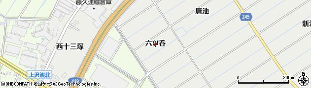 愛知県刈谷市半城土町(六ツ呑)周辺の地図