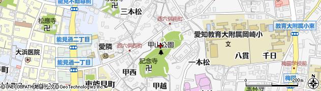 愛知県岡崎市六供町(三ツ岩)周辺の地図