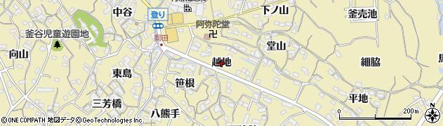愛知県知多市岡田(越地)周辺の地図