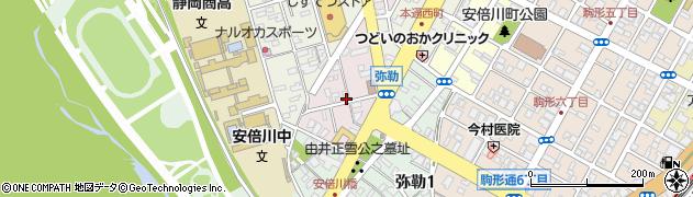 静岡県静岡市葵区南田町周辺の地図