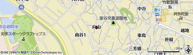 愛知県知多市岡田(向山)周辺の地図