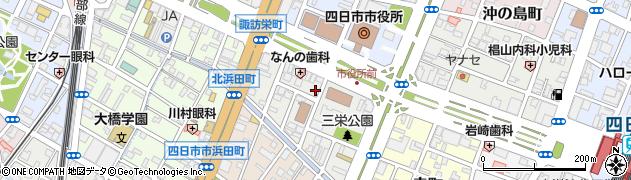 三重県四日市市三栄町周辺の地図