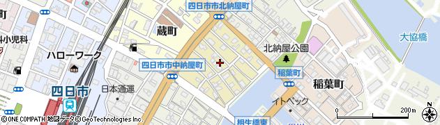 三重県四日市市中納屋町周辺の地図