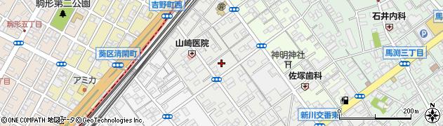 静岡県静岡市駿河区新川周辺の地図